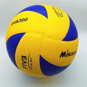 Mikasa volleyball MVA300 2008 Beijing Olympic Game Ball (Blue/Yellow) Official Match Volleyball Free Gas Needles and Net Bag - intl