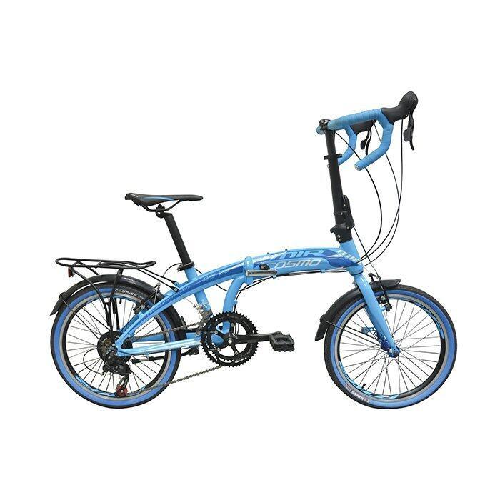 MIR จักรยานพับแฮนด์หมอบ 20 นิ้ว ตัวถัง ALLOY เกียร์ SHIMANO 14 SPEED รุ่น COSMO (สีน้ำเงิน)