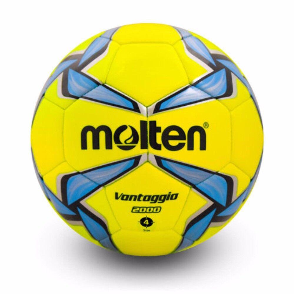 ยี่ห้อไหนดี  MOLTEN ฟุตบอลหนัง มอลเทน Football MS-TPU F4V2000 LB