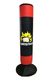 Monster Punch กระสอบทราย กระสอบทรายตั้งพื้น ขนาดกลาง (Black/Red)