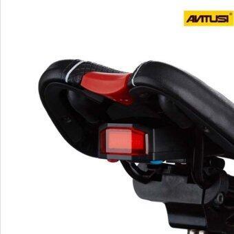 Morning ANTUSI ไฟท้ายติดใต้อานจักรยาน 3 in 1 ร่น Cicada A6 สีดำ - 4
