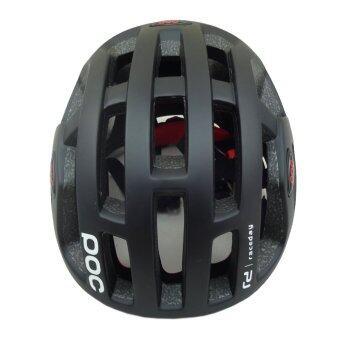 Morning หมวกจักรยาน รุ่น POC-580 - สีดำด้าน+แว่นตาจักรยาน POC พร้อมเลนส์เปลี่ยน 2 แบบ สีดำ (image 1)