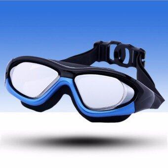 Mosha Fashions แว่นตาว่ายน้ำ เลนส์กว้างขนาดกลาง กันแสง UV (สีดำน้ำเงิน) รหัส SWO2-04