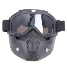 Motorcycle Goggles Detachable Harley Protect Padding Full Mask(Grey) - intl