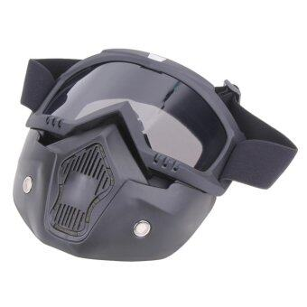 Motorcycle Goggles Detachable Harley Protect Padding FullMask(Silver) - intl
