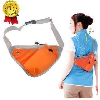 ราคา กระเป๋าคาดเอว กระเป๋าใส่ออกกำลังกาย กันน้ำ สีส้ม MULTI-FUNCTION BELT BAG (Orange)