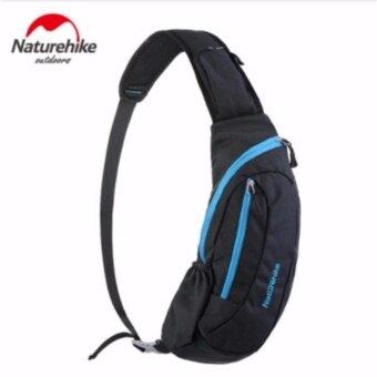 กระเป๋าคาดอกเอนกประสงค์ เนื้อผ้ากันน้ำ ใส่แทปเลทได้ Naturehike รุ่น NH3 (สีดำ ซิปฟ้า)
