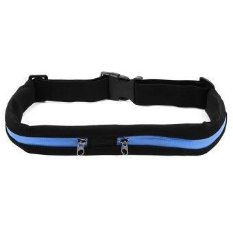 ราคา กระเป๋าคาดเอว สำหรับออกกำลังกาย มีความยืดหยุ่นสูง กันน้ำ (สีดำ-น้ำเงิน)