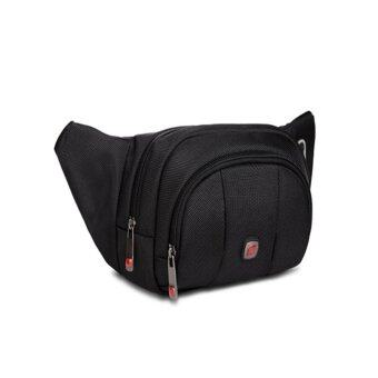 Harga New Gear Running Belt Waist Pouch Hip Fanny Travel Pack Zip Sports Bag (Black) - intl