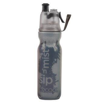 O2Cool ขวดน้ำเก็บความเย็น 2in1 พ่นสเปรย์น้ำได้ด้วยขนาด 20 ออนซ์ สีเทา ดำ รุ่น Arctic Squeeze Mist 'N Sip Insulated
