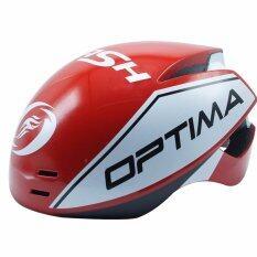 OPTIMA หมวกจักรยาน FLASH Size S/M 55-59 สีแดง