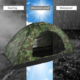 Outdoor Camouflage UV Protection Waterproof One Person Tent for Camping Hiking - intl