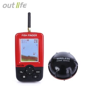 Outlife Portable Fish Finder with Wireless Sonar Sensor LCD Display- intl