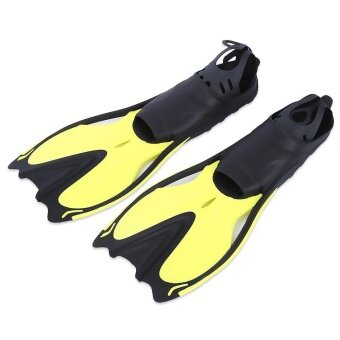 ... แนะนำ Paired Swimming Flippers Submersible Fins Snorkeling Shoes (Yellow)- intl