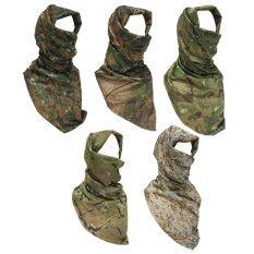 Parbuf ผ้าพันคอ ผ้าชีมัค COOLMAX Military Scarf SET 5 ผืน (สีเขียว) รุ่นMS.012