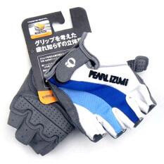 PEARL IZUMI ถุงมือจักรยานครึ่งนิ้ว สีขาวฟ้า (White/Blue)