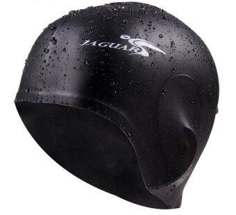 Premium Silicone Swim Caps Ears Protection (Black)
