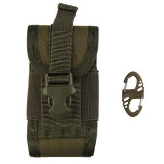 กระเป๋ามือถือคล้องเข็มขัดกองทัพยุทธวิธีปิดเคสตะขอกระเป๋าซองสีเขียว-ระหว่างประเทศ