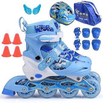 รองเท้าสเก็ต พร้อมอุปกรณ์ รุ่น G-MIQI ไซด์ 34-37M (สีน้ำเงิน)