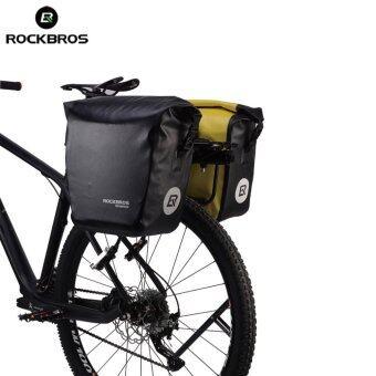 ROCKBROS 18000 มิลลิลิตรด้านหลังจักรยาน Panniers จักรยานกันน้ำ ด้านหลัง (สีดำ)