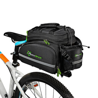 ROCKBROS Cycling Rear Saddle Bag Behind Bag Rear Rack Carry Carrier Bag Black