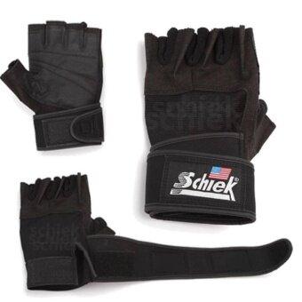 Schiek ถุงมือยกน้ำหนัก ถุงมือฟิตเนส Fitness Glove (Black)