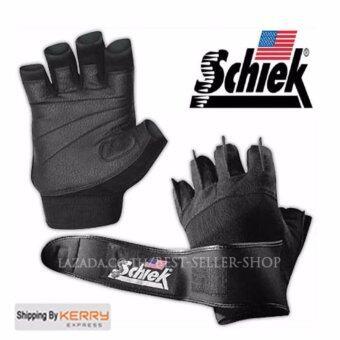 Schiek ถุงมือยกน้ำหนัก ถุงมือฟิตเนส Fitness Glove (Black Size XL)