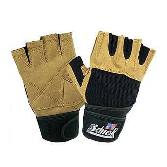 Schiek ถุงมือยกน้ำหนัก ถุงมือฟิตเนส ถุงมือหนัง Fitness Glove(Yellow)