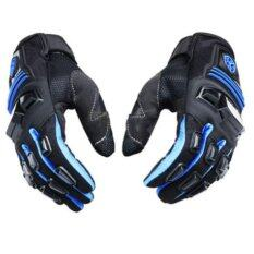 Scoyco MC24 Gloves Motorcycle Full Finger Scooter Protective Rubber Shell Racing Motorbike guantes Blue - intl