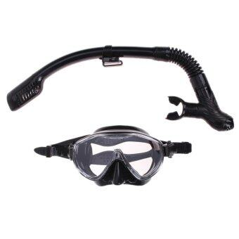 Silicone Diving Mask Anti-Fog Goggles Glasses + Snorkel Breathing Tube Set - intl