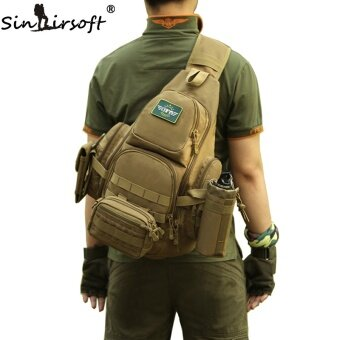 SINAIRSOFT 14iches Laptop Molle Military Backpack Men Nylon SportsBag Shoulder Sling Waterproof Men's Travel Tactical Backpack - intl