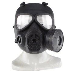 Skull Dummy Gas Mask Tactical CS Field Airsoft Full Face Guard - Black - intl