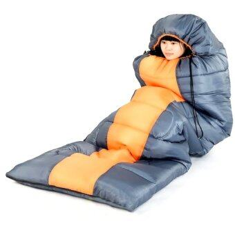 Sleeping Bag ถุงนอน ถุงนอนกันหนาว Windtour 1000g (สีส้ม)