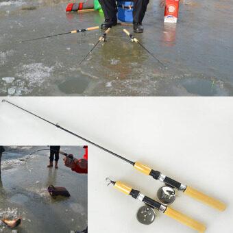 Small ice fishing rod pole mini rods fishing tackle valve for Tiny fishing pole