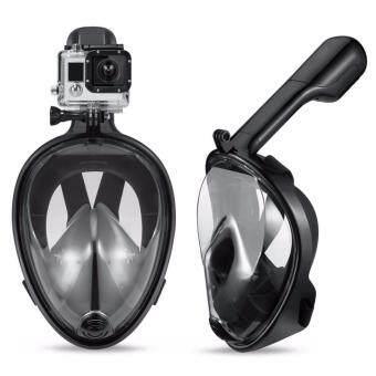 Snorkel หน้ากากดำน้ำ แบบสวมใส่เต็มหน้า ไม่คาบท่อ (สีดำ) รหัส SMS01 ไซส์ L/XL