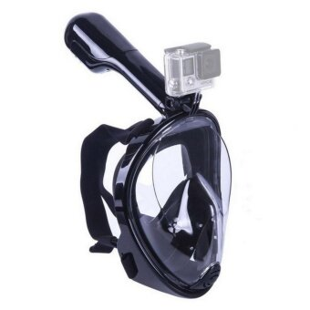 Snorkel Mask Full Face Snorkeling Mask 180-Degree field of vision Dry Snorkel and Anti- Fog Technology Free Breathing Design Fit for Kids and Adults (S/M Size) - intl