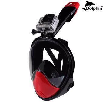 2561 Snorker หน้ากากดำน้ำ ครอบทั้งหน้าหายใจสะดวกขึ้น มีฐานติดตั้งกล้อง รุ่น DP02N ไซส์ (L/XL)