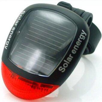 2561 ไฟท้ายจักรยานพลังแสงอาทิตย์ Solar Power LED - Black