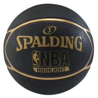 Spalding ลูกบาสNBA Highlight (Gold) แถมฟรี ที่สูบลม Spalding มูลค่า 150 บาท