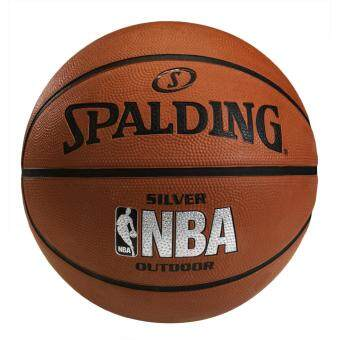 Spalding ลูกบาส NBA Silver Outdoor (แถมฟรี สูบลม/ปากกา Spalding)
