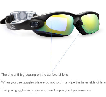 Spirit Clear Swimming Goggles Anti Fog / Scratch UV ProtectionLeakproof Triathlon Swim Goggles with Free Protection Case forAdult Men Women Youth Child Kids Beautiful black (image 1)