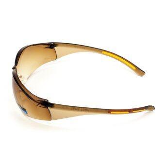 Sport Eyewear Polycarbonate UV400 แว่นกันแดดเลนส์นิรภัย รุ่น 739(เลนส์สีชาไล่สี) - 3