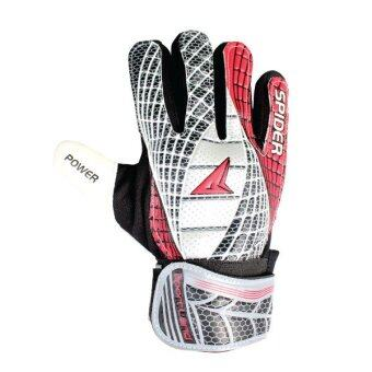 SPORTLAND Spider Goal Keeper Gloves No.9 - Black/Red