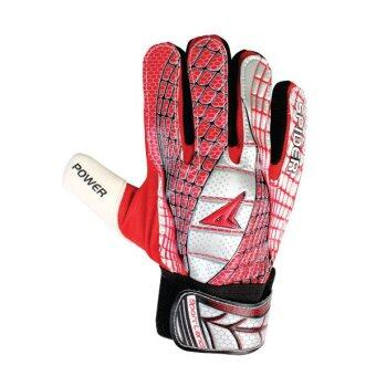 SPORTLAND Spider Goal Keeper Gloves No.9 - Red/Silver