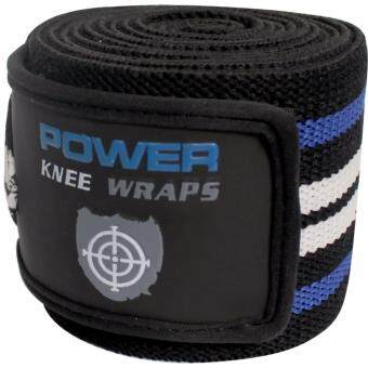 SPORTLAND ผ้ารัด หัวเข่า ฟิตเนส W/Bag Knee Wraps S-Knee BL (800)