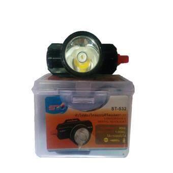 ST ไฟฉายคาดหัว ตรานก LED ST-532 80W สวิตซ์โวลุ่ม (ไฟสีเหลือง) ใช้งานลุยฝน - 2