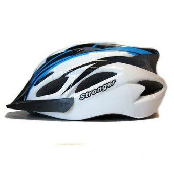 Stronger หมวกจักรยาน รุ่น V-105 (สีขาว/ฟ้า/ดำ)