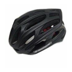 SUPER D หมวกกันน็อกจักรยาน4D มีไฟ LED รุ่น CAIRBULL(สีชมพูดำ)