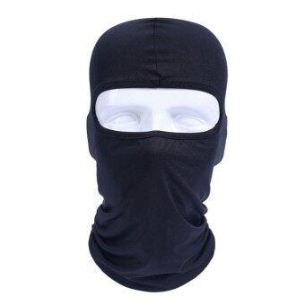 ซื้อ/ขาย SUPER D SHOP หน้ากากสกีผ้าไลคราแบบเดินป่าขี่จักรยานมอเตอร์ไซค์หมวกผ้าพันคอรถจักรยานซีเอส (สีดำ)