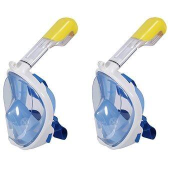 ซื้อ/ขาย Super snorke หน้ากากดำน้ำ แบบมีฐานติดกล้อง Gopro รุ่น DP01N ( สีฟ้า)2 ชิ้น ขนาดเดียวกัน